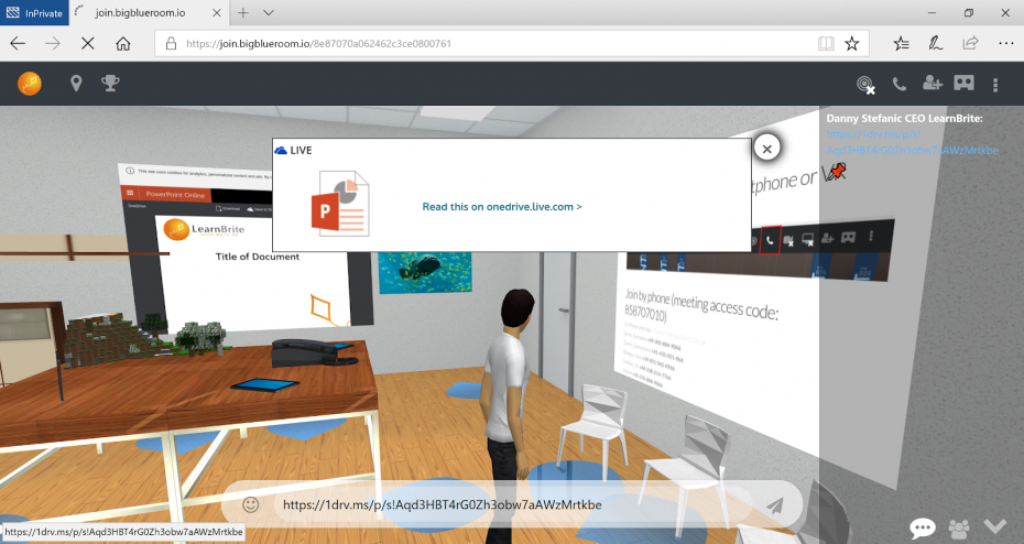 Microsoft PowerPoint 365 Online Integration | Microsoft Office 365 in VR