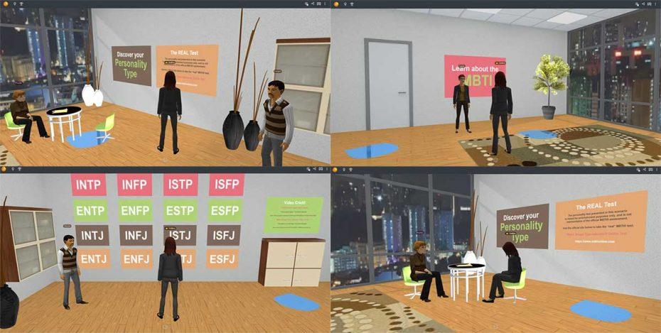 Virtual reality personality test
